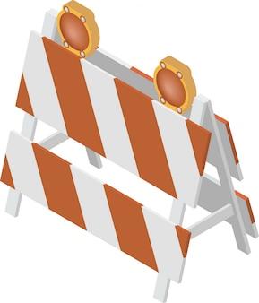 In aanbouw barrière