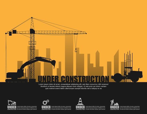 In aanbouw concept
