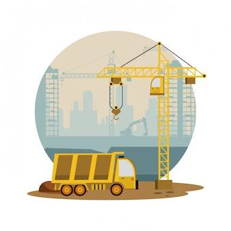 In aanbouw gebouwen en machines