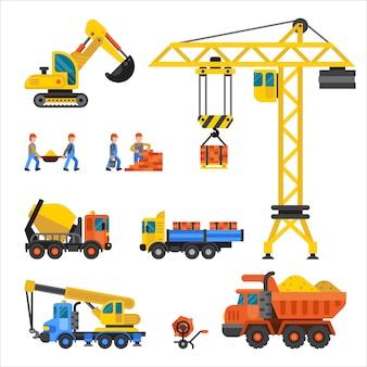 In aanbouw machines