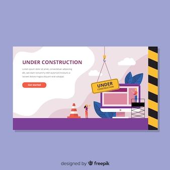 In aanbouw web landingspagina