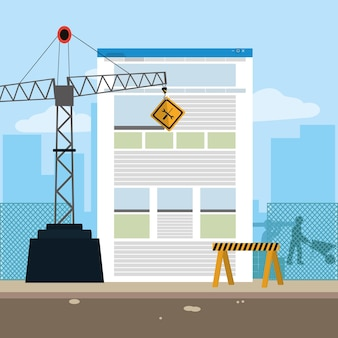 In aanbouw website