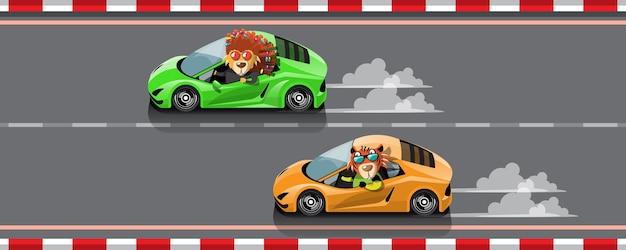In de gamecompetitie gaat de speler verder met het gebruik van een snelle auto om te winnen in het racespel racing