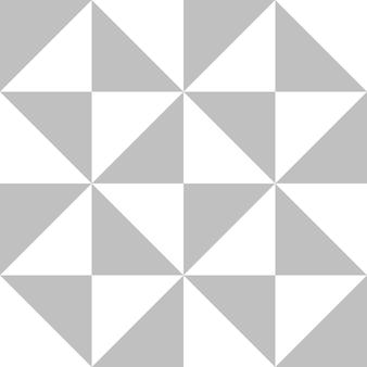 In elkaar grijpende driehoekige diamantvorm in zilverkleur