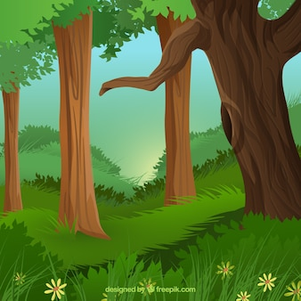 In het hout
