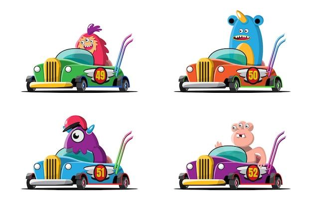 In snelheid racegame competitie gebruikte monster driver speler hoge snelheid auto om te winnen in racegame
