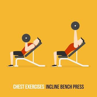 Incline bench press demostratie