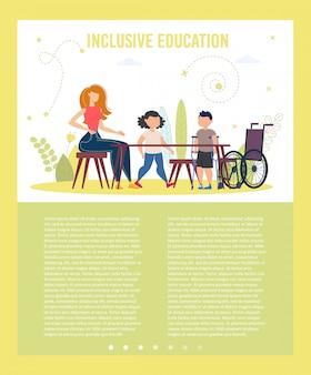 Inclusief onderwijsklassen flat