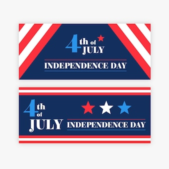 Independence day banners ontwerpen