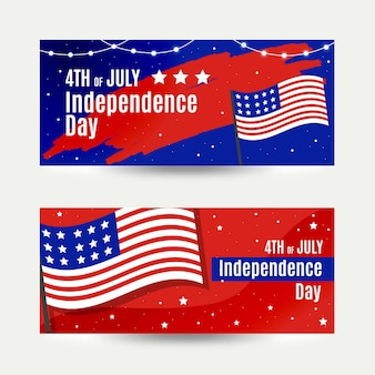 Independence day banners sjabloon concept