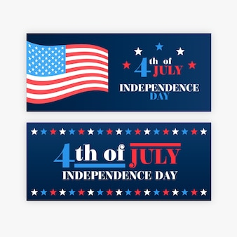 Independence day banners stijl