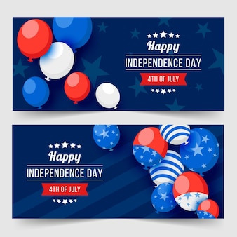 Independence day banners thema