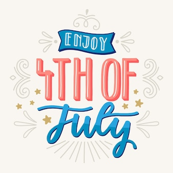 Independence day belettering thema