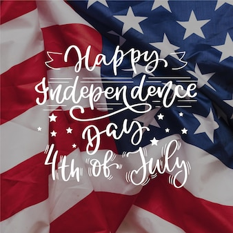 Independence day belettering