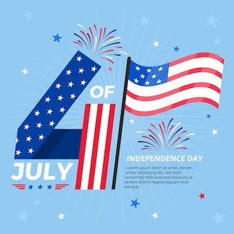 Independence day illustratie concept