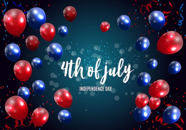 Independence day in de vs kan worden gebruikt als banner of poster