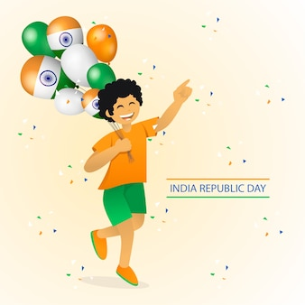 Independence day india illustratie