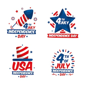 Independence day label set