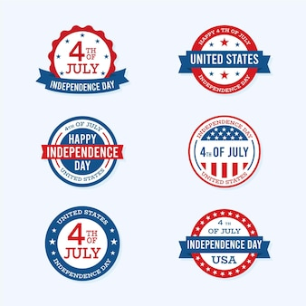 Independence day labels-collectie