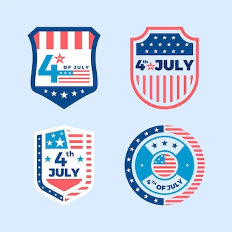 Independence day labels concept