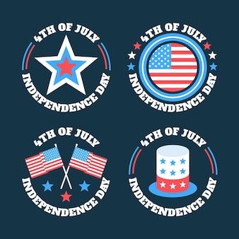 Independence day labels stijl