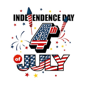 Independence day of america 4 juli