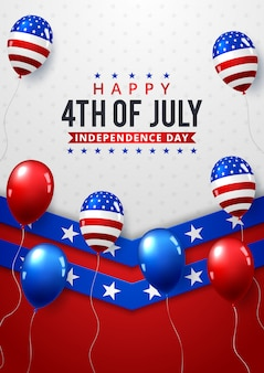 , independence day poster over navy ster patroon achtergrond ,.