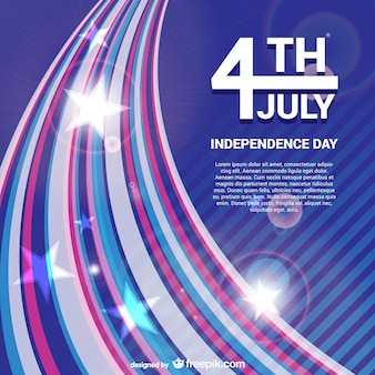 Independence day vector gratis achtergrond