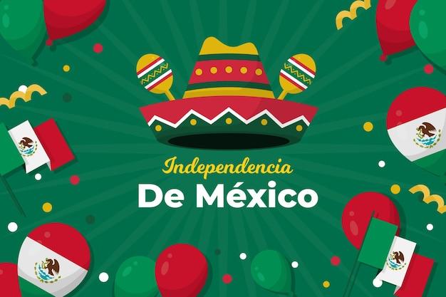 Independencia de méxico ballon achtergrond