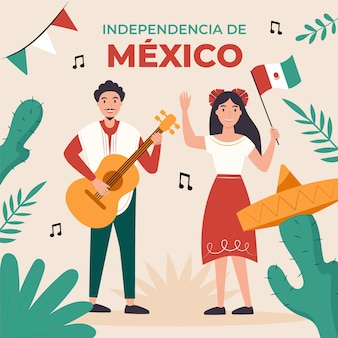 Independencia de méxico illustratie