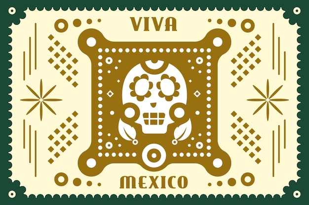 Independencia de méxico in papierstijl