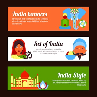 India banners collectie