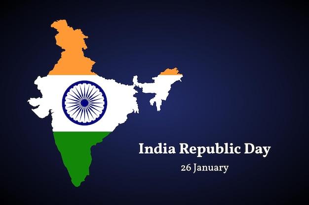 India grondgebied kaart vectorillustratie