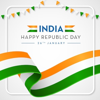 India happy republic achtergrond indiase vlag