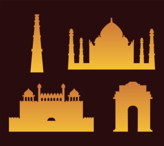 India monumenten beroemd