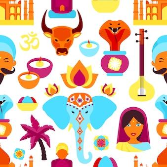 India naadloze patroon