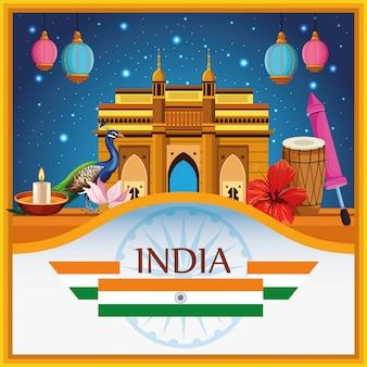India nationaal monument gebouw architectuur