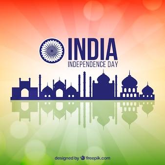 India onafhankelijkheidsdag achtergrond met architectuur