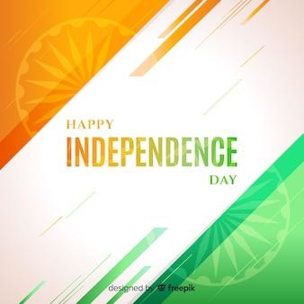 India onafhankelijkheidsdag achtergrond platte ontwerp