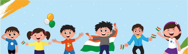 India onafhankelijkheidsdag banner