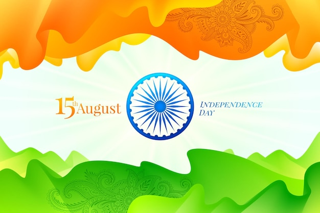 India onafhankelijkheidsdag wenskaart