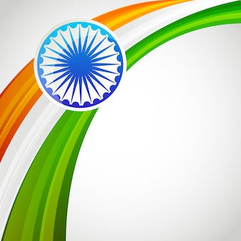India patrioc vlag en wiel embleemkaart