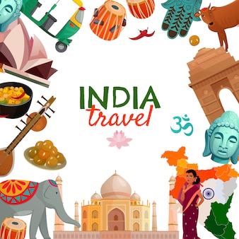 India reizen achtergrond