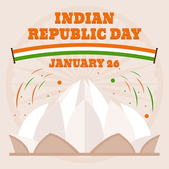 India republiek dag plat ontwerpconcept