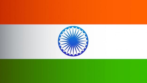 India vlag vlakke stijl ontwerp