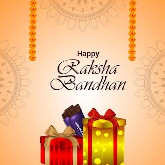 Indiaas festival van broer en zus voor gelukkige raksha bandhan