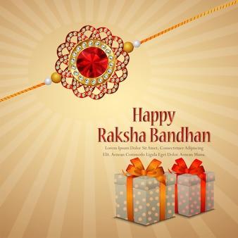 Indiaas festival van gelukkige rakhi het festival van broer en zusachtergrond