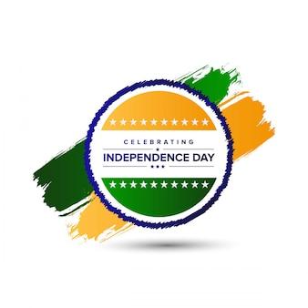 Indian independence day design met typografie vector