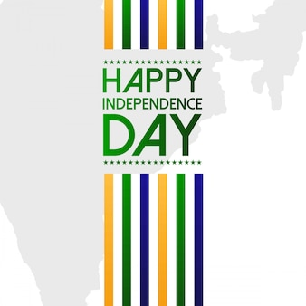 Indian independence day design met typografie vector