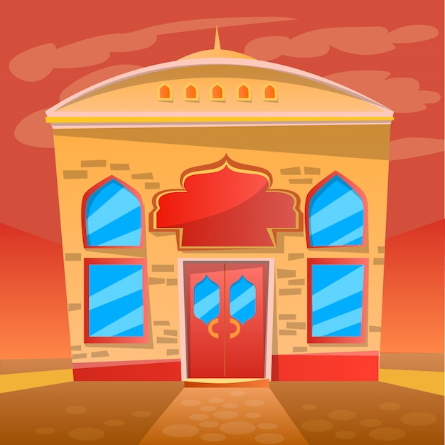 Indian restaurant cafe service, exterieur van diner